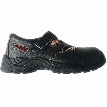 Работа безопасности обуви с верхней Сплит тисненые кожаные подошвы PU