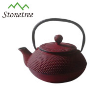 Hot Sale Wholesale Purple Enamel Coated Cast Iron Kettle Pot