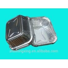 Contenedor Lámina de aluminio, caja de almuerzo hoja de aluminio 3003 medio duro