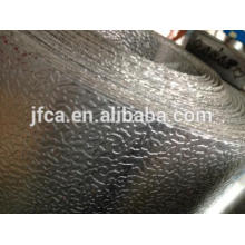 Corrosion resistant and insulated aluminum strips with orange peel pattern