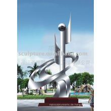 Stadt Skulptur aus Edelstahl