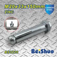 M20X33X150mm Grau 8.8 Zinco revestido Expansão Âncora Parafuso