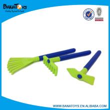Plastic kid hand garden tools toy set