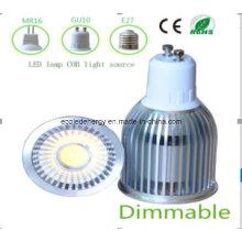 Bulbo de LED COB LED GU10 9W blanco regulable