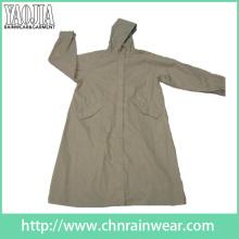 Yj-6205 Stylish Womens Long Voyage Raincoat Rain Wear Girls Rain Coats