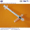 Jeringa desechable de 1 ml con Luer Lock (ENK-DS-072)