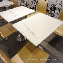 melhor vender mesas e cadeiras de cantina de superfície sólida