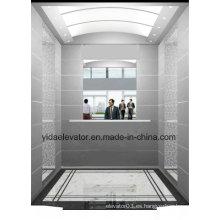 Elevador de pasajeros con espejo de media altura en la pared trasera