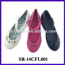 2014 nuevos zapatos de la muchacha nuevos zapatos de la muchacha de los zapatos de los niños de la manera del diseño