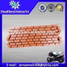 420,428,428H, 520,530 Anillo de motocicleta de color naranja precio de la cadena