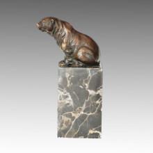 Tier Kleine Statue Sitzen Bär Bronze Skulptur Tpal-278