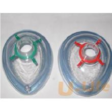 Máscara de anestesia médica desechable de PVC