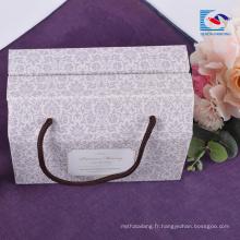 Boîte de papier d'emballage ondulé cadeau personnalisé unique de couleur personnalisée