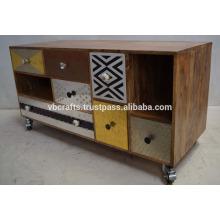 Необычные красочные металлический ящик Индийского Кабинета