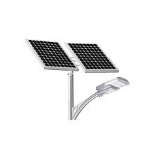 100W movido a energia solar levou luzes de rua ao ar livre
