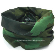 Promotional Customized Logo Printed Army Green Camouflage Printing Polyester Seamless Multifunctional Neck Tube Scarf