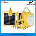 Lanterne solaire qualifiée 4500mAh / 6V de puissance de puissance avec le chargeur de téléphone portable avec l'ampoule solaire (PS-L069)