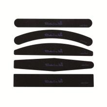 Custom printed black nail file 100/180 korean sandpaper nail file