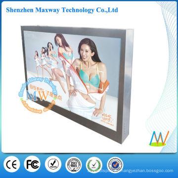 monitor LCD legible de luz solar al aire libre montado en la pared comercial de 46 pulgadas
