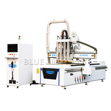 Cheap 4 Axis 4 Head Rotary 3D CNC Wood Carving Machine, CNC Router