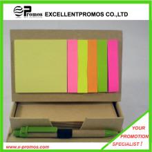 Рекламный переработанный липкий блокнот с ручкой (EP-M5261)
