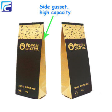 Aluminum foil customized kraft paper Tea packaging pouch