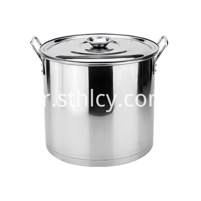 High Quality 410 Stainless Steel Stock Pot