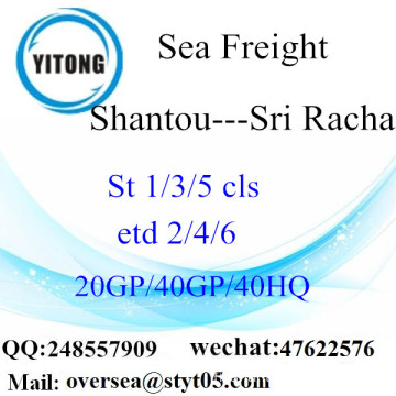 Shantou Port Sea Freight Shipping à Sri Racha