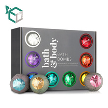 Hot Sale Festival Black Box Gift Pack For Natural Bath Bomb Set With PVC window
