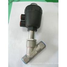 Угловой седельный клапан с пластмассовым приводом (серия RJQ22P)