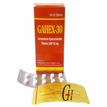 Левамизола гидрохлорид в таблетках 30мг