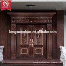 Quality Luxury Bronze Door, Double Swing Entry Copper Door