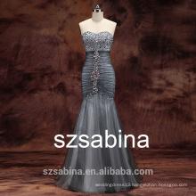 PD10004 New sheath beads evening dress mermaid dress 2016 bridal gown