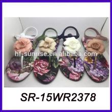 Sandalias descalzas de las sandalias de las sandalias al por mayor baratas al por mayor de la flor