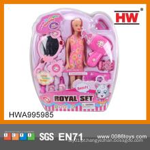 Atacado crianças plástico boneca acessórios beleza conjunto