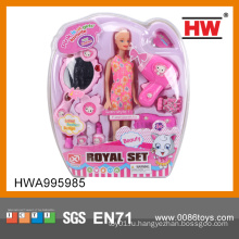 Оптовые дети пластиковые куклы аксессуары набор красоты