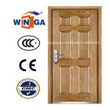 Estilo Artístico Winga Security Steel MDF Veneer Armored Door (W-B3)