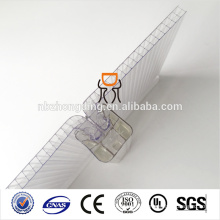 Mehrwandiges wasserdichtes u-Verschluss-Polycarbonat-hohles PC-Blatt