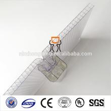 multiwall impermeable u bloqueo policarbonato hueco hoja de pc
