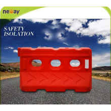 Highly visible plastic water filled highway road barriers