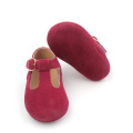 Hot Red Baby Girl Dress T-bar Shoes