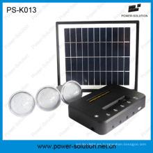 5200mAh Sistema de energía solar de 3 luces para áreas remotas