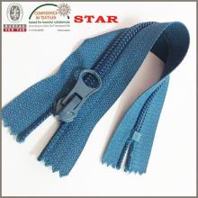 Cremallera de tela de nylon con extractor de pulgar (# 5)