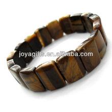 Tigereye piedras preciosas Rectangle Spacer cuentas de pulsera de estiramiento