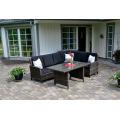 Garten Rattan Outdoor Patio Möbel Wicker Sofa Lounge-Set