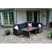 Garten Rattan Outdoor Patio Möbel Wicker Sofa Lounge-Set