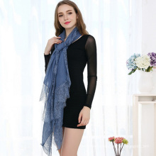 2017 wholesale best quality promotional women custom design organic cotton lace scarf