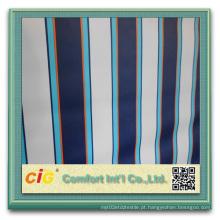 PVC revestido de poliéster Tela de toldo impermeável Strip Fabric