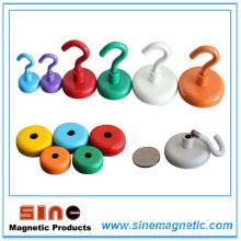 Глянцевый цветной сильный постоянный магнитный крюк NdFeB
