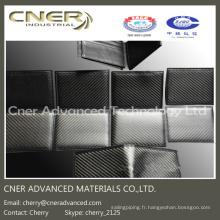 Portefeuille 100% fibre de carbone de luxe, agrafe / sac à main en fibre de carbone